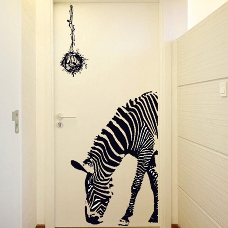 Wall sticker zebra pattern PVC material waterproof and environmental waterproof wall sticker(China (Mainland))