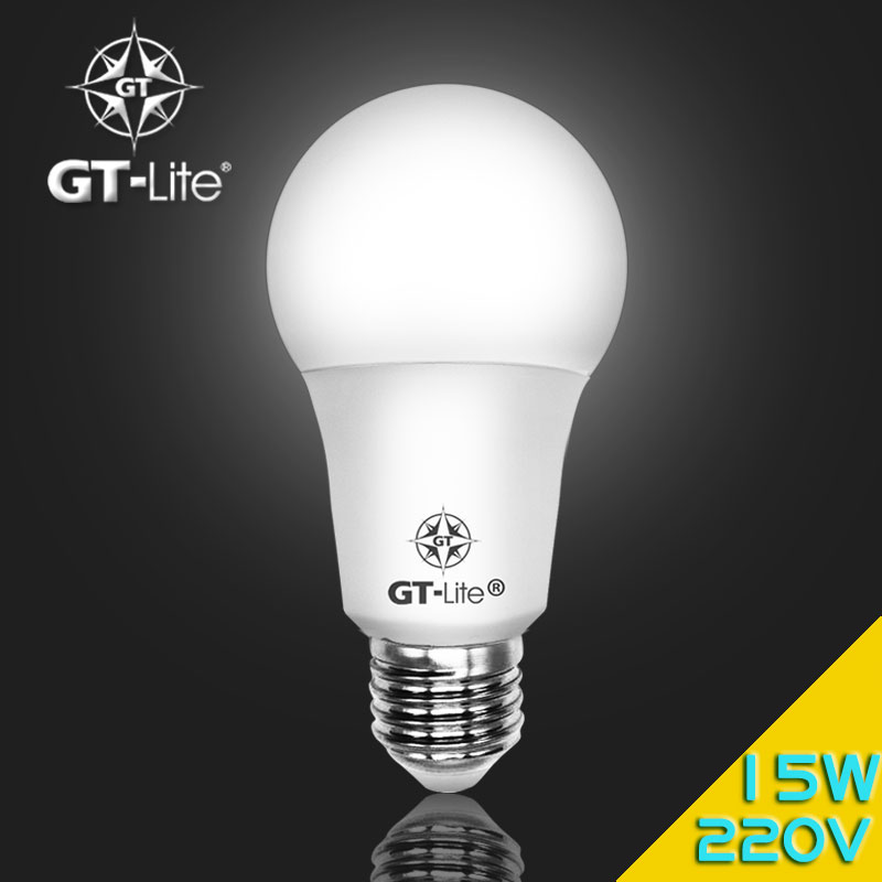 GT-Lite LED Bulb 220V 230V E27 15W SMD2835 PC Lampshade Aluminum with Plastic clad Lampcup Light Bulb Energy Saving GTB3-15W<br><br>Aliexpress