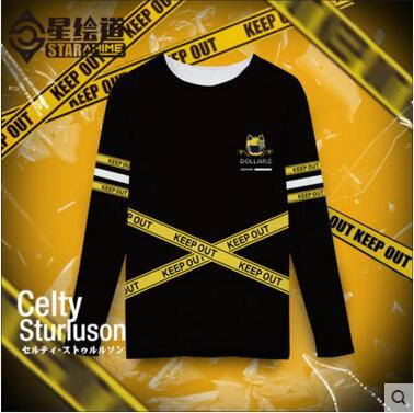 Hot New Animation DuRaRaRa!! Izaya Orihara Celty Sturluson T-shirt Autumn Winter Cosplay Tops Free ShippingОдежда и ак�е��уары<br><br><br>Aliexpress