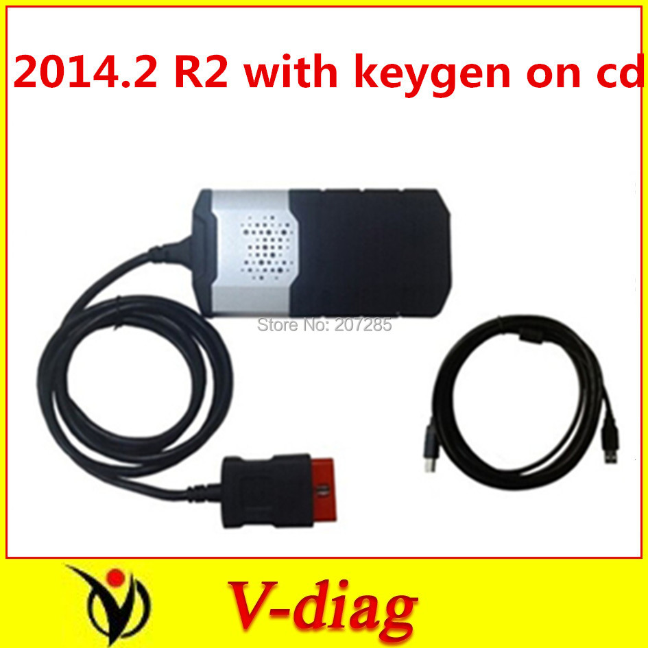 NEW 2014.2 R2 with keygen on cd new vci without bluetooth cdp ds150 SCANNER TCS pro plus best DS150E(China (Mainland))