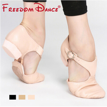 Genuine Leather Stretch Jazz Dance Shoes For Women Ballet Jazzy Dancing Shoe Teachers's Dance Sandals Excercise Shoe D005353(China (Mainland))