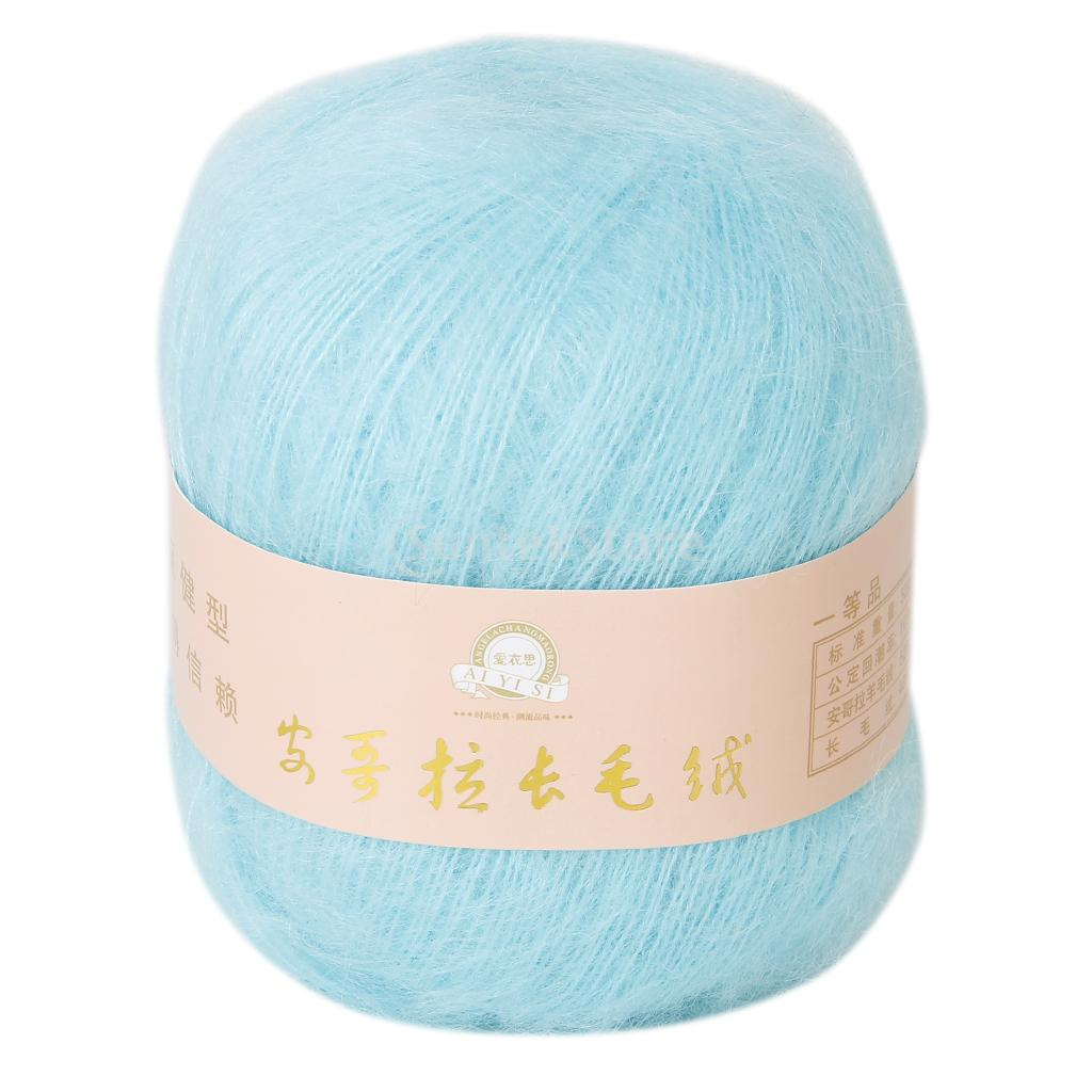 One skein angola mohair cashmere wool knitting yarn craft for Craft with woolen thread