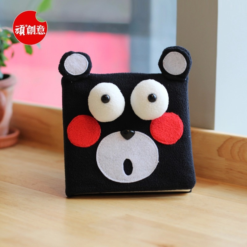 2015 Cute Cartoon Black bear Velveteen notebook creative trends Notebook Diary Planner Notepad kids Gift DIY Stationery - Fashion Shop 7 store
