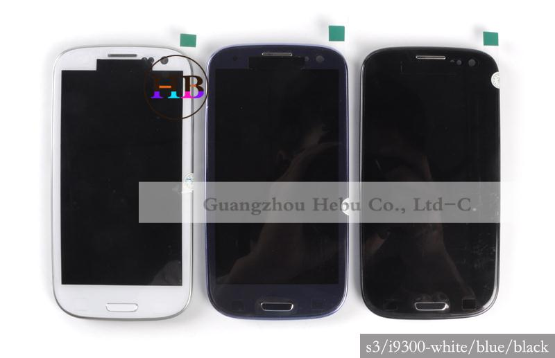 Original I9305 Lcd Display For Samsung Galaxy S3 lcd i9300 i9301 Lcd Screen Touch Digitizer With Frame+Tool Free Shipping(China (Mainland))