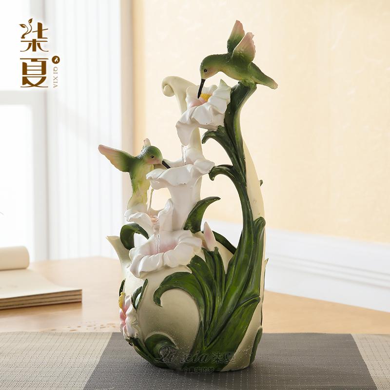 Qi xia kreative gl ck kleine runde tisch wohnzimmer brunnen feng shui ornamente handwerk - Wohnzimmer brunnen ...