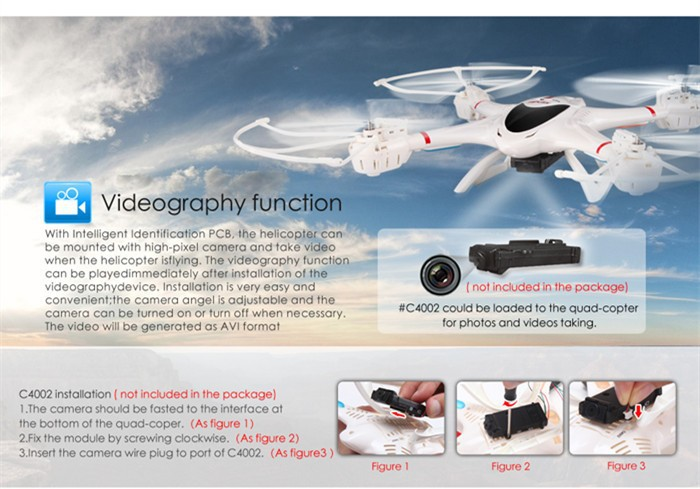 Free shipping MJX X400 rc helicopter 2.4G quadcopter AR.drone 6-axis MJX X400 V2 with /without C4002&C4005 fpv camera copter