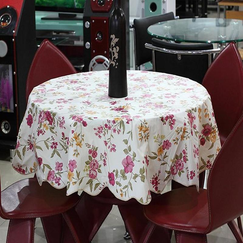 Quality round table cloth waterproof disposable tablecloth fabric thickening fashion 152cm(China (Mainland))