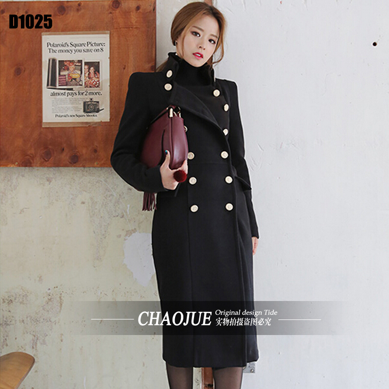 Ultra long paragraph cashmere overcoat female 2016 new arrivals handsome military slim woolen long coats for women free shippingОдежда и ак�е��уары<br><br><br>Aliexpress