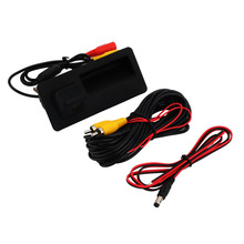 wireless wire Car parking Trunk handle camera For Audi A4 A5 Q5 A6 S4 S5 Rear View Cam Waterproof reverse camera New(China (Mainland))