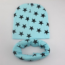 1 Set Winter Autumn Crochet Baby Hat Girl Boy Cap Cotton Scarf Beanie Star Infant knitted toddlers Children New(China (Mainland))