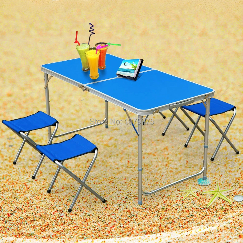 Free Shipping Outdoor table folding table folding chair outdoor furniture camping chair garden furniture 1 table 4 chairs(China (Mainland))