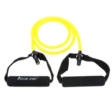 Buy JHO-Natural Rubber Latex Fitness Resistance Tube Resistance Rope Elastic Exercise Band Yoga Pilates Workout (Yellow, 20lb) for $5.16 in AliExpress store