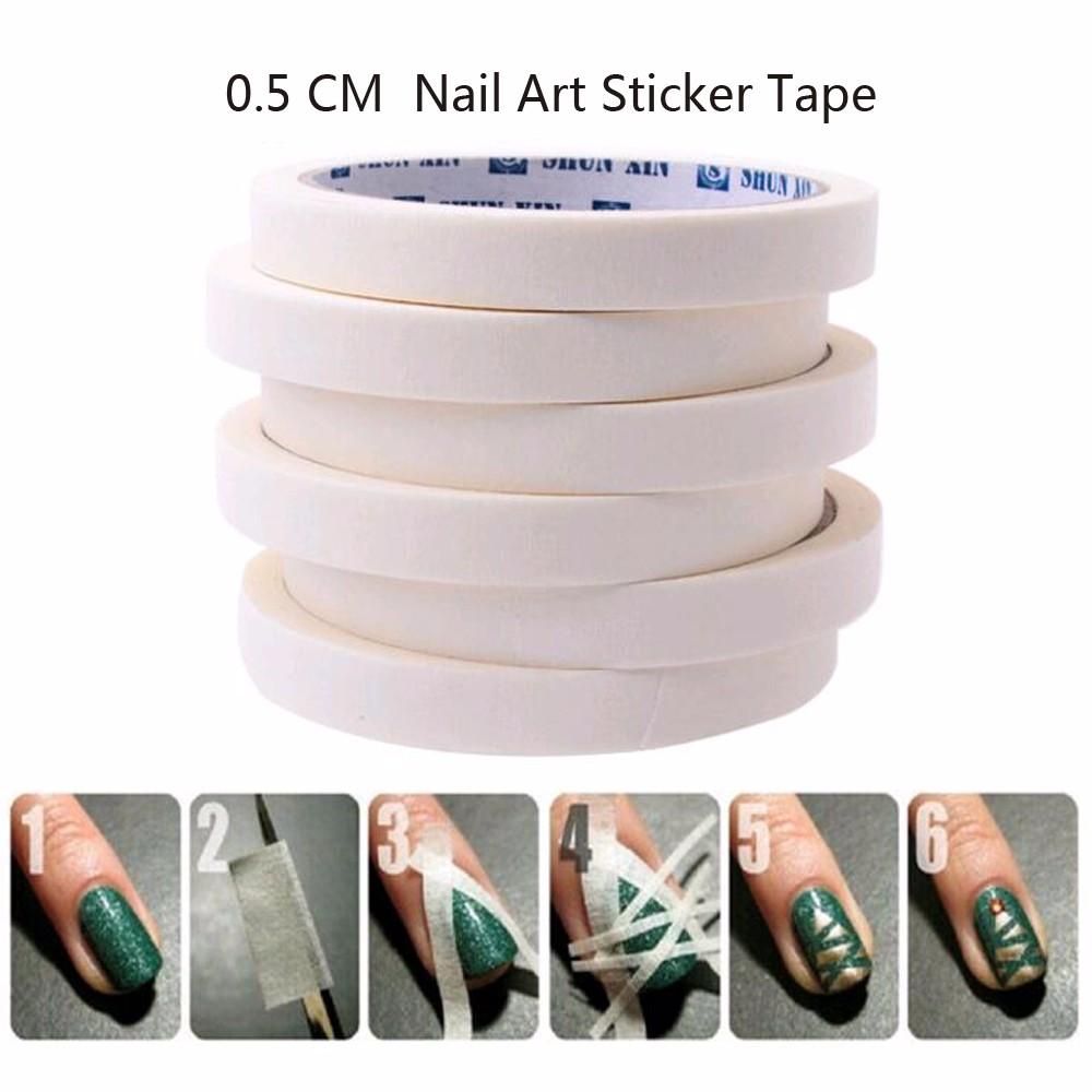 TOMTOSH 1PCS 17m*0.5cm French Manicure Nail Art Tips Creative Nail Stickers Masking Tape Nail Accessories Nail Art Free shipping(China (Mainland))