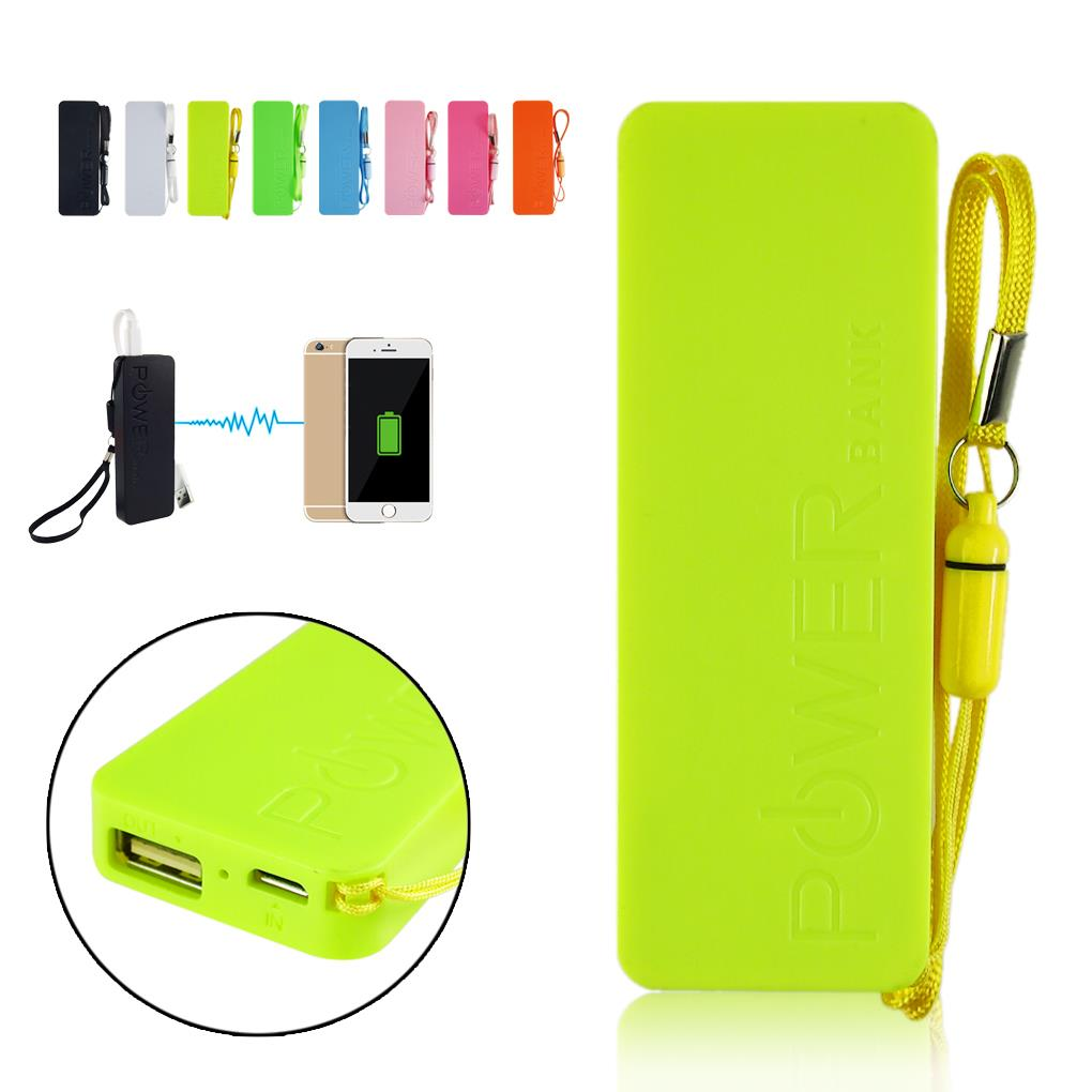 Portable Practical Ultra-thin 5600mAh Vivid colors mobile USB power bank general charger external backup battery pack