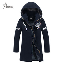 2016 New autumn Fashion Trench Men Trench Coats Long Slim Fashion Men Pea Coat Double Breasted Winter Overcoat For Male EB01(China (Mainland))