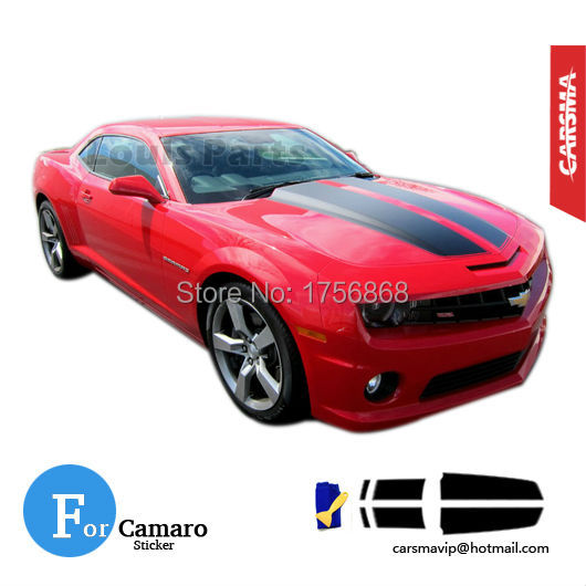 Camaro Rally Racing Stripes 2010 2011 2012 2013 Chevy Decals Hood Roof Trunk Kit Pro Motor Stripes Sticker(China (Mainland))