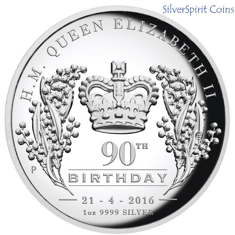 Cook Islands 2016 Happy 90th Birthday Queen Elizabeth II Coin,1oz Silver Plated Coin.Free Shipping 30pcs/lot(China (Mainland))