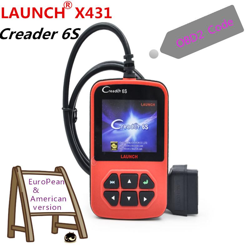 2016 Launch X431 Creader 6 Plus Launch Creader 6S OBD2 Code Reader scanner European & American version 100% Original(China (Mainland))