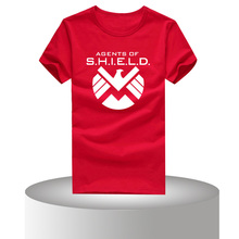 Fashion Marvel Agents of Shield Men T Shirts Round Neck Short Sleeve Vintage t shirts For