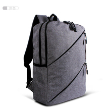 Hot Sale Good Linen Fabric 17inch bag backpack student school bag For Up to 14/15.6 Inch / Notebook / Tablet PC /(China (Mainland))