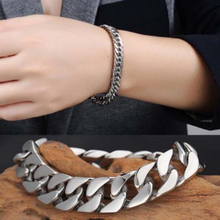 Buy High Men Stainless Steel Chain Link Bracelet Fashion Hand Chain Bangle Simple Bracelet Jewelry Boyfriend Gift for $1.42 in AliExpress store
