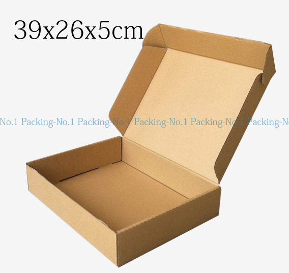 50pcs 39cm*26cm*5cm brown logo printing kraft paper custom gift packaging box,corrugated paper packing boxes(China (Mainland))