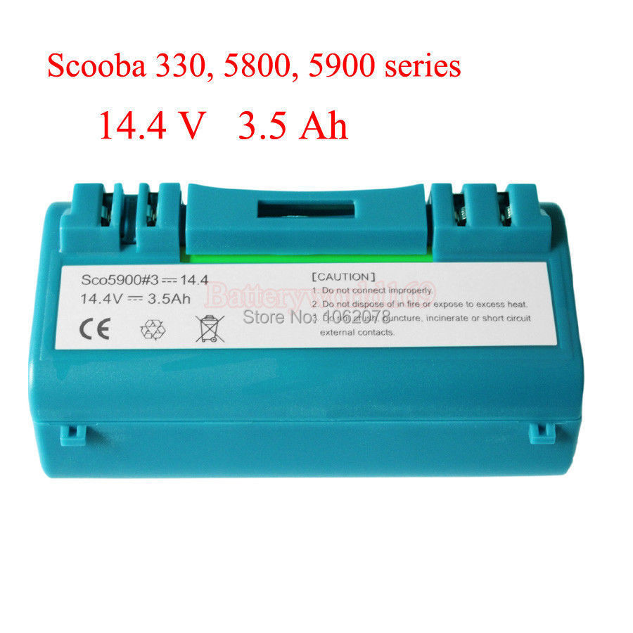 Battery for iRobot Scooba 330 340 34001 350 380 5800 5900 6000 vacuum cleaner APS 14904 SP385-BAT SP5832 34001(China (Mainland))