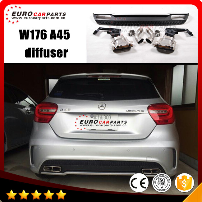 W176 diffuser fit BENZ A-class style changing car like AMG muffler tips - Dalian Eurocar Auto Parts Co., Ltd. store