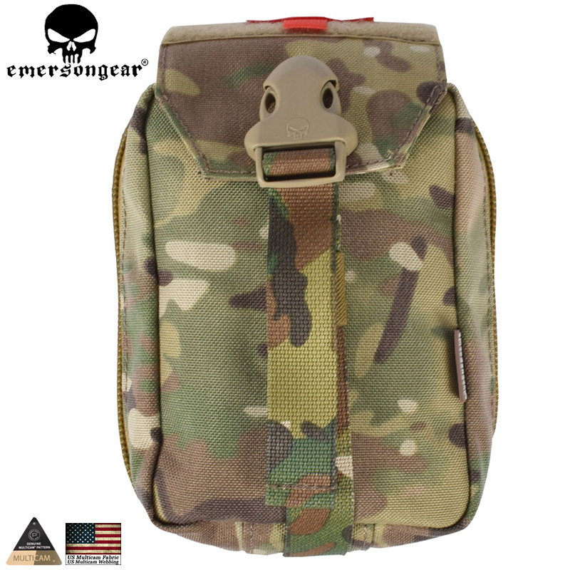 EMERSONGEAR First Aid Pouch Kit Medic pouch Molle Military Airsoft Paintball Combat Gear Multicam EM6368(China (Mainland))