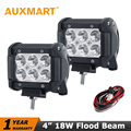 Auxmart 4 18W CREE chips LED Work Light Bar Flood Beam Offroad Driving Light Fog Lamp
