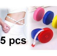 1 PCS Random Color New Retractable Ruler Tape Measure 60 inch Sewing Cloth Dieting Tailor 1.5M Free shipping(China (Mainland))