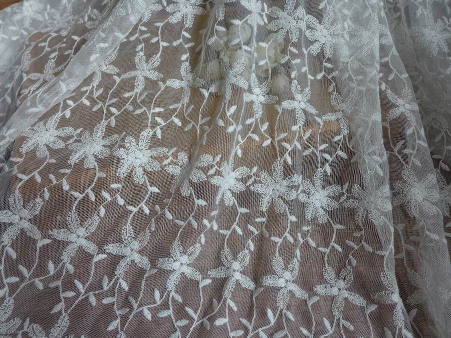 Bridal lace fabric in off white beautiful wedding dress for Wedding dress lace fabric