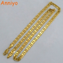 Buy Anniyo Chain Necklaces Women/Men Gold Color African Jewelry Fashion GP Chain Arab Items/Brazil/Nigeria Gifts #052402 for $4.18 in AliExpress store