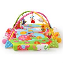 Cartoon Animals Sheep Soft Baby Play Mat Toy Outdoor Indoor Portable Kids Play Blanket Musical Activity Gym Baby Crawling Pad(China (Mainland))