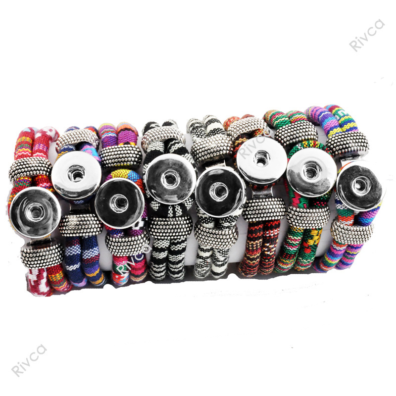 F00226 for 18mm button cord size 6mm newest Easy Textile rivca snap Button charm bracelet jewelry(China (Mainland))