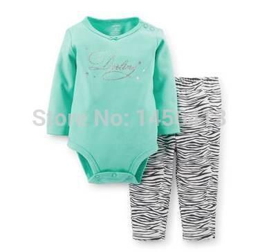 Fashion brand Original Baby clothing sets girls Spring Autumn Clothing Set  2PCS Terry Top long sleeve bodysuit+ pant(China (Mainland))