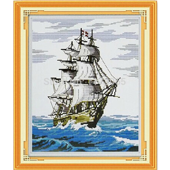 Needlework,DIY DMC Cross stitch,Sets For Embroidery kits,Smooth sail Patterns Counted Cross-Stitching,Wall Home Decro