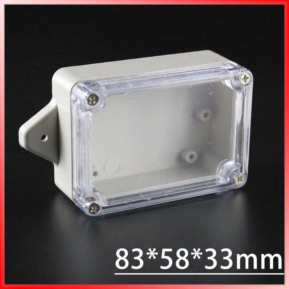 83*58*33mm small electronics enclosure plastic enclosure waterproof junction box switch box DIY PLC project box IP65(China (Mainland))