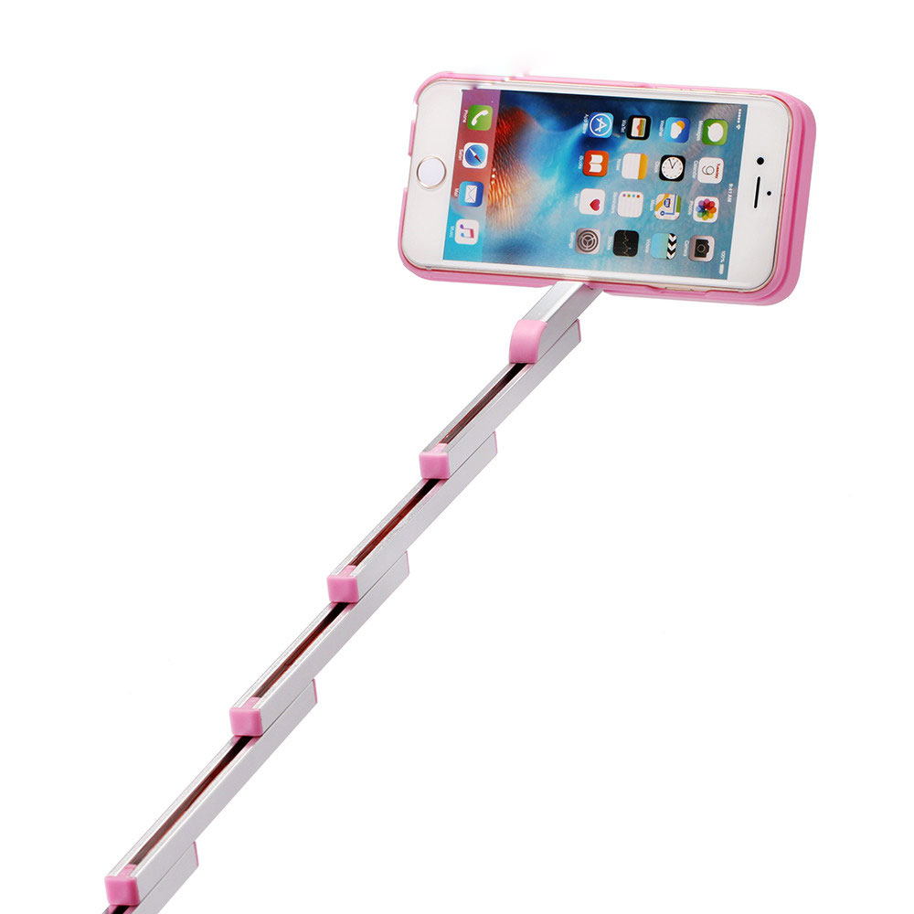 Extendable Selfie Stick Case Cover with Remote Control For for iphone 6 6s Plus(China (Mainland))