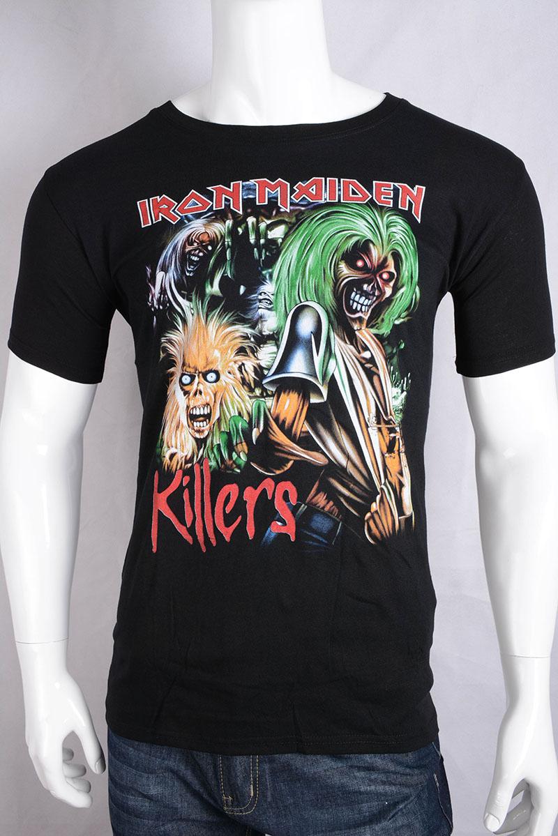 Iron maiden t shirt mens uk music band metallica t shirt for Band t shirts for men