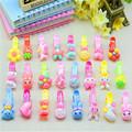 10 pcs lot Girls Hair Accessories Bow Hair Clip Kawaii Baby Hairpin Rabbit Hair Clip Flower