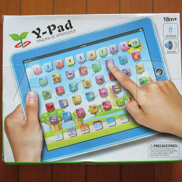 Y - Pad Maquina de Aprendizaje,Computer touch Learning Machines,Spanish Language Baby educational toys for children,Good Quality(China (Mainland))