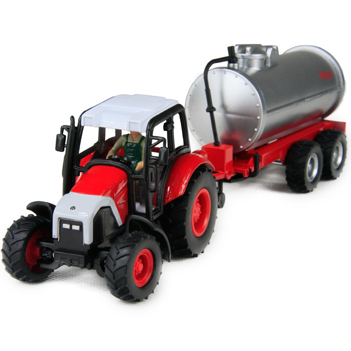 Alloy toy car trailer tractor oil tank truck exquisite cars(China (Mainland))