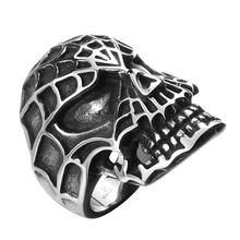 Buy New Evil Spider Man Skull Gothic Style Men's Fashion 316L Stainless Steel Ring anello uomo Jewelry US Size 8 9 10 11 for $4.37 in AliExpress store
