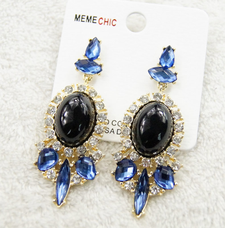 popular colorful exaggerated Dangle Earrings nice gems Earrings with 5 colors for choose(China (Mainland))