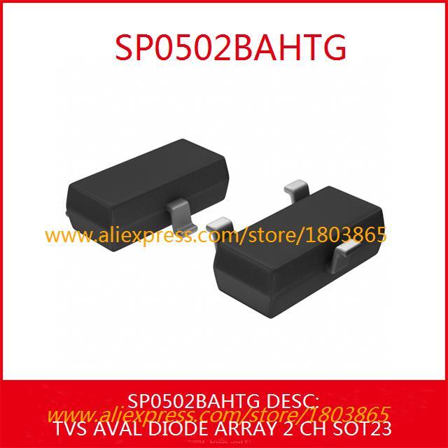 Free Shipping Diy Integrated Circuits SP0502BAHTG TVS AVAL DIODE ARRAY 2 CH SOT23 0502 SP0502 10pcs(China (Mainland))