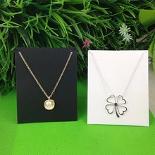 Buy New Hot White 10X8CM Kraft Pendant Card Necklace Card 1lot=100 card +100 opp bag Blank Jewelry Card Custom Logo Cost Extra for $11.00 in AliExpress store