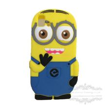 Lovely 3D Cute Cartoon Despicable Yellow Minions Soft Silicon Case Back Cover BQ Aquaris E5 3G 4G Phone Bag - Climb Electronic Technology Co., Ltd. store