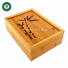 17.5cm*25cm*7.5cm Chinese Tea Table Natural Wood Bamboo Tea Tray Sliding Cover Tea set(China (Mainland))