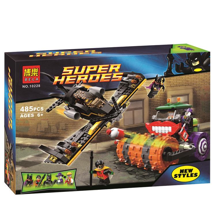 Bela 10228 superheroes Joker Steam Roller Robin block Building blocks minifigures Action figure Compatible With Lego LR-261
